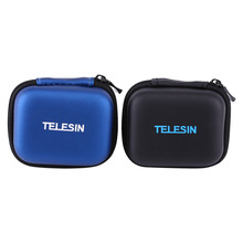 TELESIN Mini Portable Shockproof Protective Carrying Storage Camera Bag For Gopro Hero5/4/Xiaoyi/Xiaomi yi Sport Action Cameras(China)