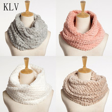 KLV 2017 hot sale Women Lady Winter Autumn Womens Blend Circle Collar Scarf Neck Rings Shawl Collar Wrap Stole Scarve Fits All