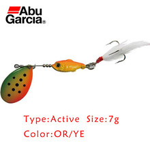 Abu Garcia Brand Active Style Spinner Bait 7g OR/YE Color Spoon Lure Salmon Perch Trout Fishing - SeaKnight Outdoor (USA store Co.,Ltd)