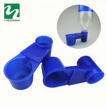 Blue water drinking Bird equipment wholesale  10 pcs Birds Docking drinking Bottle 2.8 cm Quail Waterer Bird cups