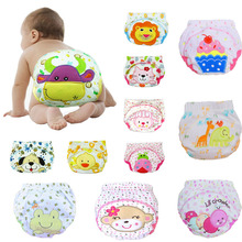 10pcs Character Cotton Super Breathable Cloth Diaper Reusable Baby Diapers Cover Clothes Nappy Trainning Pants Birth To Potty