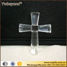 Wholesale 80pcs/LOT Religious Cross My Heart Crystal Cross Figurine Christian Crystal Wedding Gift