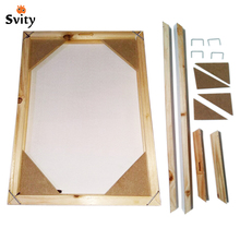 Wood frame for canvas oil painting nature wood DIY custom frame big size picture inner frame without the painting just the frame(China)