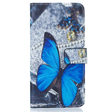 Fashion Print PU Leather Flip Cell Phone Case Cover For Samsung Galaxy J5 J510 2016 With Card Slots Hand Strap