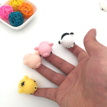 YYBB 5pcs/set Decompression Toys Ducks Ding Trade Squeezed Decompression Ball Foreign Seals Small Dumpling  Action Figure Toys