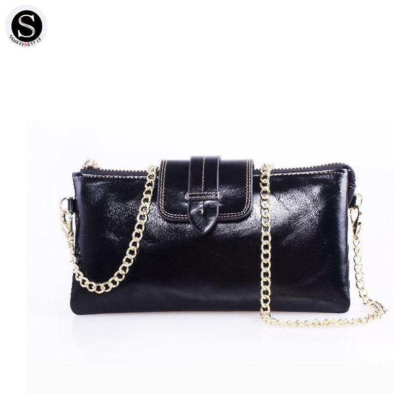 Senkey Style Genuine Leather Womens Wallets And Purses 2017 Famous Phone Coin Purse Large Capacity Clutch Credit Cards Money Bag<br>