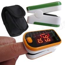 +Case/Bag/Pouch New come Pulse Oximeter LED Display SO2 PR Blood Oxygen Monitor 5 colors