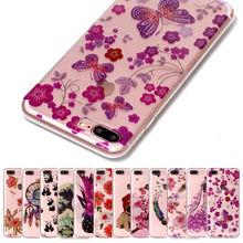 Luxury Bling Flowers Soft Case For apple iPhone 5 5s se 6 6s 6plus 6s Plus 7 7plus Cases Capinha Clear TPU Silicone Coque Cover(China)