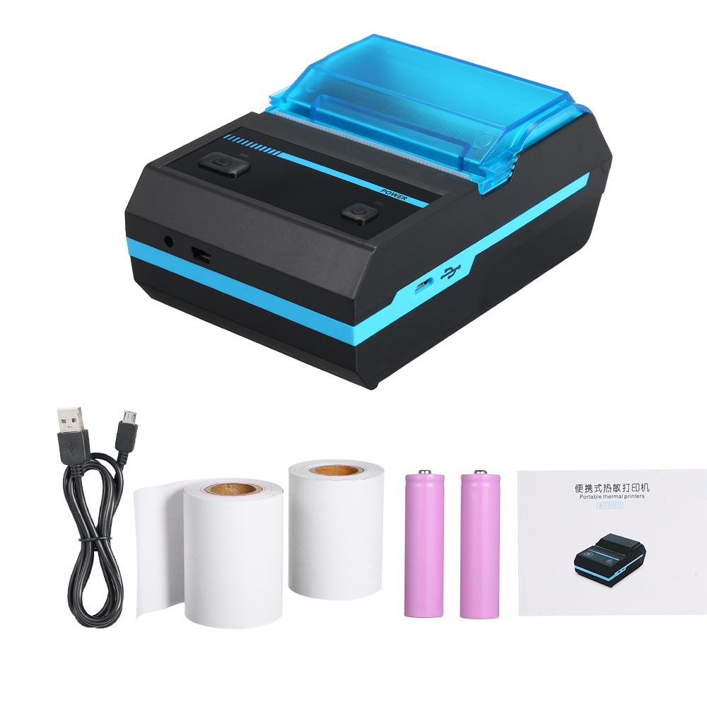 Portable Mini Wireless 58mm BT Direct Thermal Printer EU/US Compatible with Android IOS Windows Linux ESC/POS Print Commands Set