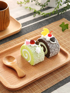 Trays Tableware Storage-Tray Dessert-Plate Snack Fruit Breakfast Wooden Rectangle Japanese-Style