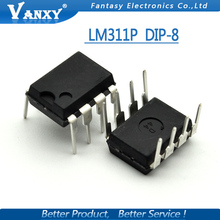10PCS LM311P DIP8 LM311 DIP DIFFERENTIAL COMPARATORS WITH STROBES new and original IC free shipping