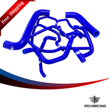 PQY RACING FREE SHIPPING - Blue Silicone Radiator Hose Kit for Subaru Impreza WRX/STi GDB,EJ20 10PC PQY-LX-1803D-BL(China)