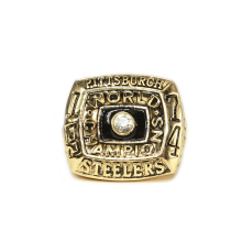 1974 American football Pittsburgh Steelers sale replica championship rings men jewelry Fast shipping STR0-275(China)