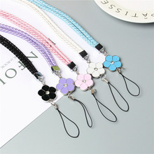 Cute Flower Colorful Mobile Phone Lanyard Phone Straps Neck Hanging Rope Card USB Holder Chain Keychain Charm Cords for samsung(China)