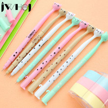 4 pcs/lot cute cartoon cat gel pen kawaii stationery pens canetas material escolar office school supplies papelaria