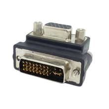 100pcs Down Right Angled 90 Degree VGA SVGA Female To DVI 24+5 male DVI to RGB Adapter,Free shipping by FedEx(China)