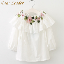 Bear Leader 2017 Children's Blouses Long Sleeve Floral Embroidery Girls Shirts 2017 New Fashion Style Children for Girls Clothes