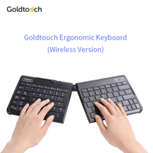 Original Goldtouch ergonomic bluetooth wireless keyboard,portable height adjustable and foldable keyboard.for Mac and pc black