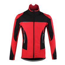 ARSUXEO Red Thermal Cycling Jacket Bicycle Clothing Winter Warm Up Sports Coat Windproof Waterproof MTB Bike Jersey(China)