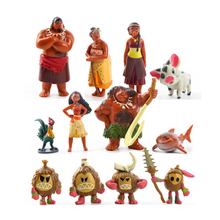12 Pcs/Set Moana Princess Toy Waialiki Maui Heihei Adventure PVC Action Figures Collection Toys Children Gift Holiday Gifts A312