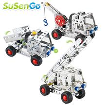 SuSenGo Iron Commander Metal Track Assembly Scale Models 3D Building Blocks Toy Educational DIY Children Kids Gift