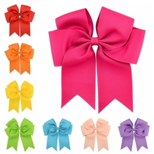 1 piece Grosgrain Ribbon Big Bow Hair Clip For hair Boutique Large Cheer Bow For Girl Fashion Hair Accessories 672(China)