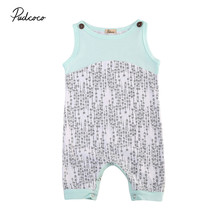 Newborn Baby Boy Girl Romper Zebra Jumpsuit Summer Sleeveless Patchwork Clothes Boys Girls Rompers Round Neck Clothing Outfits(China)