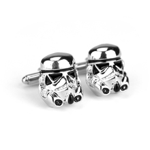 HANCHANG Movie Jewellery Tie Clip 3D Darth Vader Star War Swank Novelty Enamel Cufflinks for Men Shirt Cuff Buttons Cuff Links