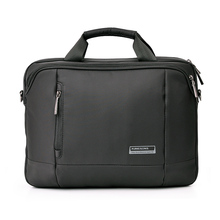 "14"" Laptop Bag Tote Notebook Handbag Tablet Briefcase Case Waterproof Nylon Business Messenger Bag Black Laptop Shoulder bag(China)"