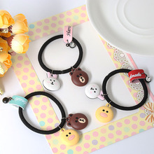 2017 Hot Fashion Cute Women Girl Elastic Cartoon Animals Hair Band Tie Headwear Spring Party Hair Rope Ponytail Holder Hairband(China)