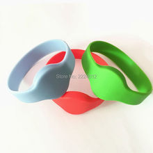 5PCS/Pack 13.56MHz RFID Silicone Wristband Bracelet 65mm NFC RF1108 Smart Proximity IC Card Waterproof for Access Control(China)