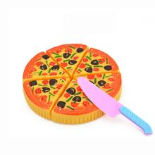 Pretend Play Toy Childrens Kids Pizza Slices Toppings Pretend Dinner Kitchen Play Food Toy Gift D40+(China)