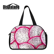 Dispalang travel purses and bags fruit printing travel duffel bags canvas luggage garment bag large shoulder carry on bag girls