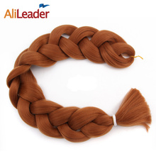 AliLeader 165G Xpressions Braiding Hair Blond Brown Black 613# 20 Pure Colors Kinky Straight Braiding Hair Synthetic Weaves 1Pcs