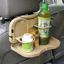 Auto Car Travel Plastic Foldable Meal Drink Cup Tray Holder Mini Dining Table Random Color
