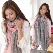 Vintage Print Lady Soft Long Neck Large Scarf Wrap Shawl Stole Scarves