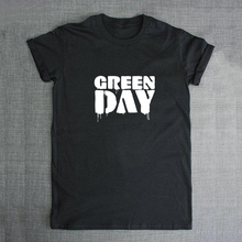 2017 Green Day Letter Print T shirt Male Tshirt Men Tee Shirts Anime Hiphop Skateboard Palace Black Radio head Summer Clothes