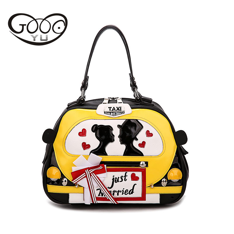 GOOG.YU Fashion New handbags small car paragraph creative travel handmade women 's handbags leisure tide hand reclining bag(China (Mainland))