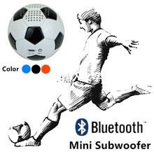 PU Leather Football Mini portable Bluetooth speaker Subwoofer Strong Bass Home theater music audio player 600mah Roly poly