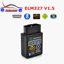 Latest Design HH OBD MINI ELM327 V1.5 Bluetooth OBD2 OBDII CAN BUS Check Engine HH ELM 327 With 25K80 Chip Auto Scanner Tool