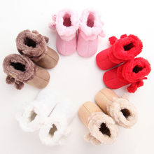 2017 Autumn Winter Newborn Baby Infant Toddler Girl Snow Boots Crib Shoes Prewalker Booties(China)