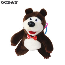 OCDAY Bear Stuffed Animals Plush Toy Electronic pet Musical Talking Action Figure Doll Masha Bear Toys for Children Xmas Gift(China)