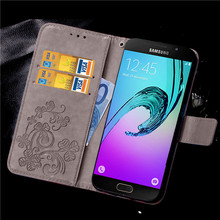 Leather Wallet Flip Case For Coque Samsung Galaxy A5 A3 2016 Phone Case for samsung A310 A510 A310F A510F sm-a310f sm-a510f(China)
