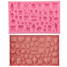Geometry Gem & Crystal Diamond Silicone Fondant Soap 3D Cake Mold Cupcake Jelly Candy Chocolate Decoration Baking Tool FQ3066