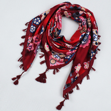 105*105cm Bohemia Ethnic Style Ladies Big Square Scarf Printed Women Wraps Winter ladies Scarves cotton india headband(China)