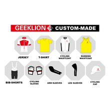 Geeklion Custom Free Design Cycling Jersey  Custom-Made Bike Jacket Bicycle Gloves DIY Cycling Cap Sport Breathable T-Shirt