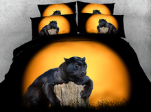 3pcs HD Digital Print gorgeous Wild Leopard printed duvet cover set Animal bedding sets(China)