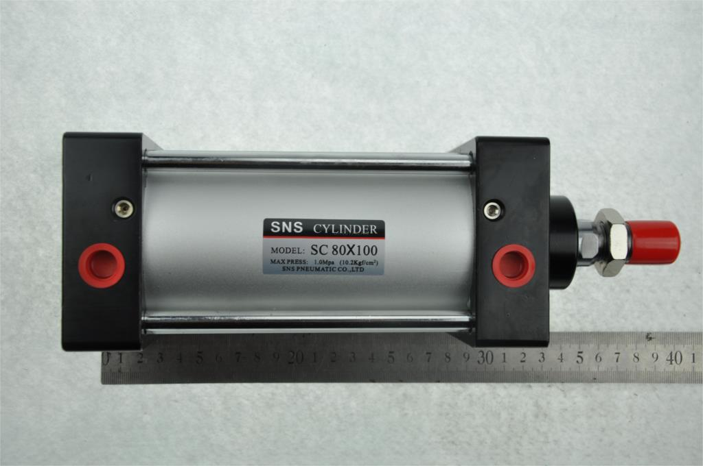Bore80mm/3.15 Stroke 100mm/3.94 SNS Pneumatic standard air cyliner SC80*100 Airtac Type Hydraulic cylinder 3/8PTwith cushion<br><br>Aliexpress