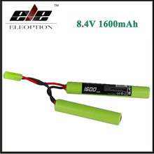 Eleoption 2/3A 8.4V 1600mAh Ni-MH Butterfly NunChuck Battery Pack with Mini Tamiya Connector for Mini AK Series Airsoft AEG Guns