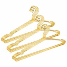 Hangerlink Golden Metal Clothes Shirts Hanger with Groove, Heavy Duty Strong Coats Hanger, Suit Hanger, Wire Hanger (30 pcs/Lot)(China)